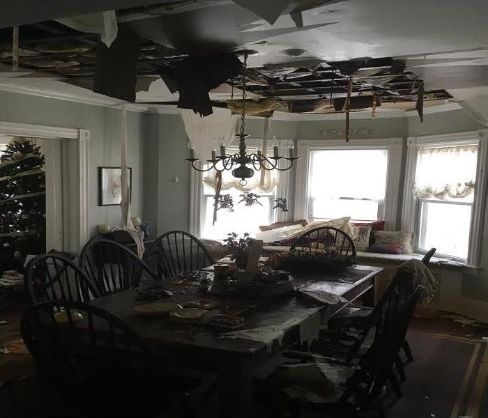 Water Damage in Cutchogue, NY Before