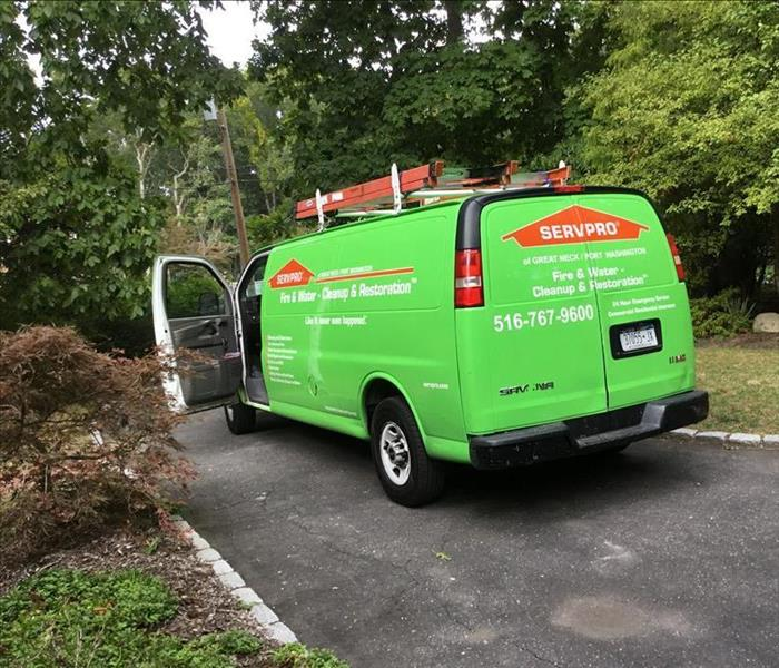 SERVPRO van getting ready to work